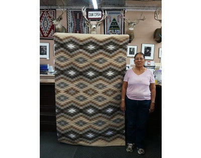 Load image into Gallery viewer, Charlene Begay, Eye Dazzler Rug, Navajo Handwoven, 47'' x 76''