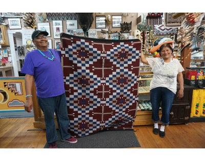 Load image into Gallery viewer, Donald Yazzie, Cheif Rug, Navajo Handmade, 70.2 in x 53 in