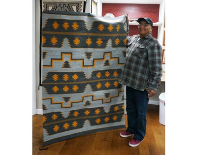 Load image into Gallery viewer, Donald Yazzie, Cheif Pattern, Navajo Rug, Handwoven, 71 in x 49 in