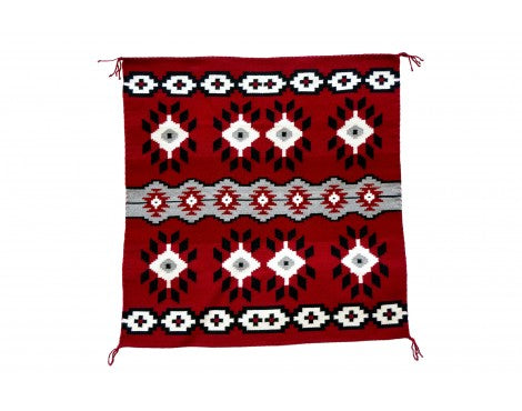 Eleanor Trjullo, Ganado Red Rug, Navajo Handwoven, 35