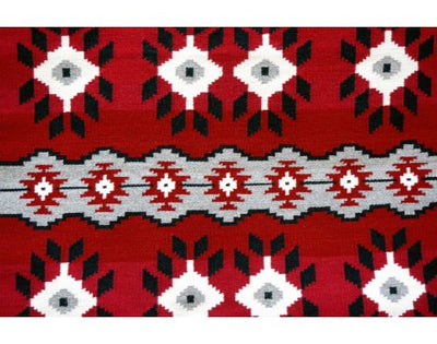 "Load image into Gallery viewer, Eleanor Trjullo, Ganado Red Rug, Navajo Handwoven, 35""x 36 1/2"""