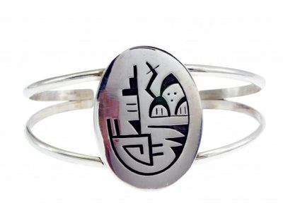 Load image into Gallery viewer, Frank Lahaleon, Bracelet, Sterling Silver, Wire, Zuni, Hopi Motif, 7