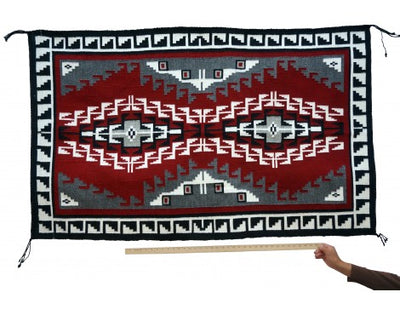 Load image into Gallery viewer, Shirley Sandoval, Navajo Ganado Red Rug, Handwoven, 40'' X 64''