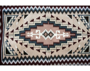 La Rose Bia, Two Grey Hill, Navajo Handwoven Rug, 47'' x 74''