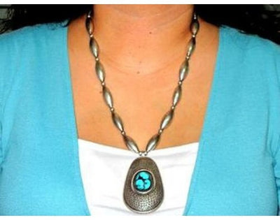Load image into Gallery viewer, Kenneth Begay, Last Chance Sterling And Turquoise Necklace