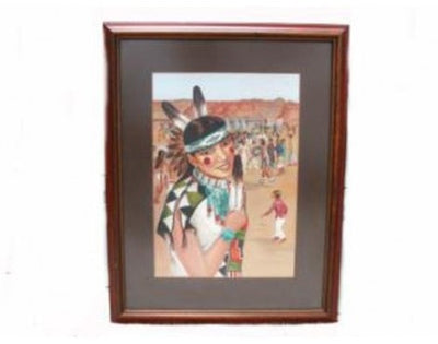 Load image into Gallery viewer, Raymond Naha, Zuni Celebration Painting(27 1/2 x 21)