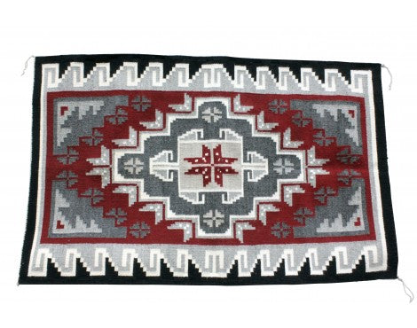 Nora Mix, Gando Red, Navajo Handwoven, 31 1/2'' x 50''