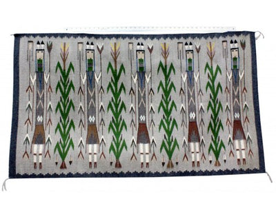 Load image into Gallery viewer, Rena John, Yei Rug, Navajo Handwoven, 55 in x 31.5 in