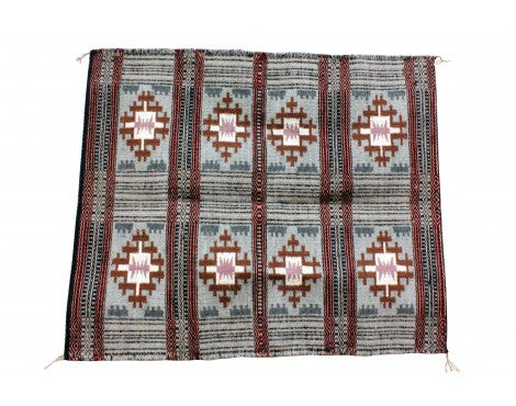 Lucy Wilson, Two faced Saddle Blanket, Navajo Handwoven, 32'' x 40''