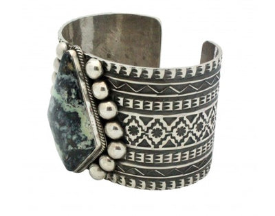 Load image into Gallery viewer, Sunshine Reeves, Bracelet, Damele Turquoise, Stamping, Navajo Handmade