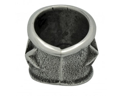 Load image into Gallery viewer, Kevin Yazzie, Tufa Cast Wide Band, Stars, Sterling Silver, Navajo Handmade, 5