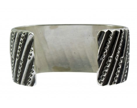 Sunshine Reeves, Bracelet, Sterling Silver, Triangle Wire Overlay,Navajo,7 1/4''