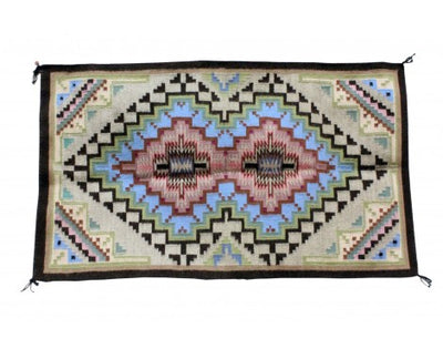 Load image into Gallery viewer, Sadie Charlie, Burntwater Rug, Navajo Handwoven, 25 in x 43 in