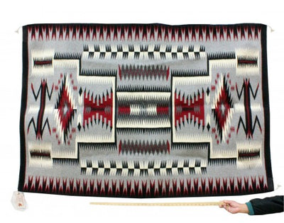 Load image into Gallery viewer, Theresa Begay, Storm Pattern, Navajo Handwoven, 69 in x 48 in