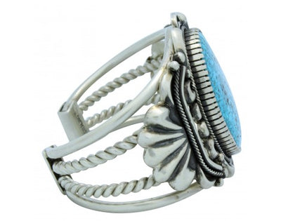 Load image into Gallery viewer, Stacey Gishal, Bracelet, Kingman Turquoise, Silver, Navajo Handmade, 6.75 in