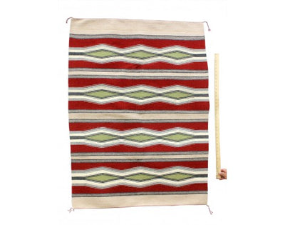 "Load image into Gallery viewer, Betty Clyde, Wide Ruins, Navajo Rug Handwoven, 34""x54"""