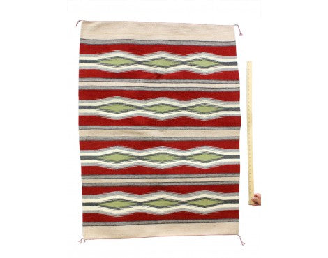 Betty Clyde, Wide Ruins, Navajo Rug Handwoven, 34