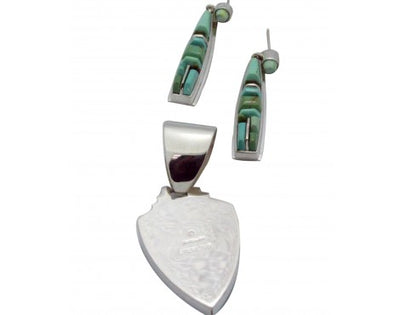 Load image into Gallery viewer, James Lee, Stoneweaver, Pendant, Earring, Royston Turquoise, Navajo Made