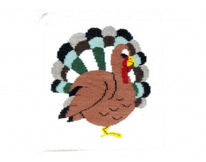 "JoAnn Begay, Pictorial Turkey, Navajo Handwoven, 14""x 17"""