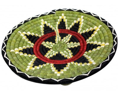 "Load image into Gallery viewer, Alicia Adams, Hopi Coil Plaque, Corn Flat Round 15"" diameter"