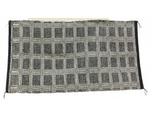 Mary Begay, Double Weave Saddle Blanket, Navajo, Handwoven, 57.5 in x 31 in
