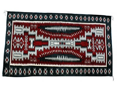 Load image into Gallery viewer, Jolita Williams, Red Storm Pattern, Navajo Handwoven Rug, 70 in x 43 in
