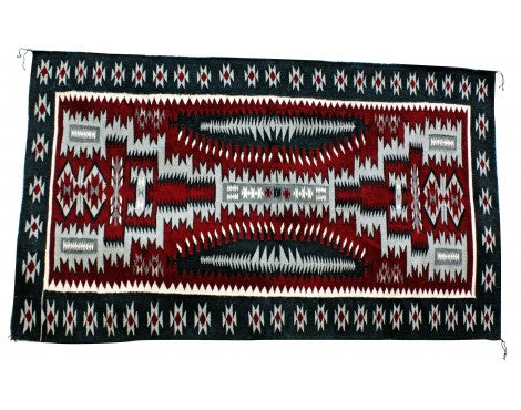 Jolita Williams, Red Storm Pattern, Navajo Handwoven Rug, 70 in x 43 in