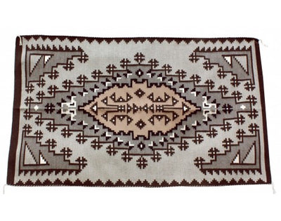 Load image into Gallery viewer, Emma Joe, Two Gery Hills Rug, Navajo Handwoven, 36 in x 60 in