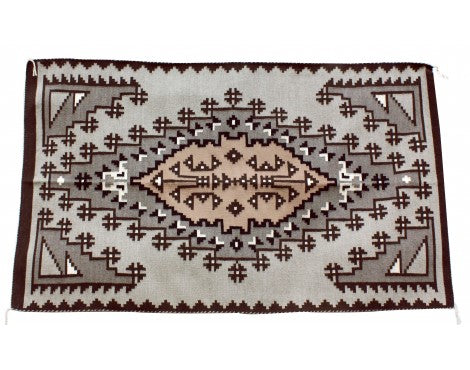 Emma Joe, Two Gery Hills Rug, Navajo Handwoven, 36 in x 60 in