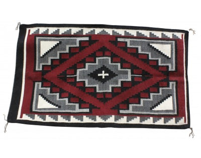 Load image into Gallery viewer, Marietta Begay, Ganado Red Rug, Navajo Handwoven, 54 in x 32 in