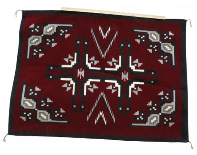 Load image into Gallery viewer, Annie Yazzie, Ganado Red Rug, Navajo Handwoven, 58 in x 43 in