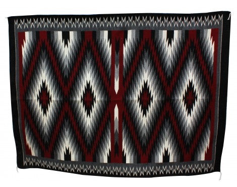 Gabriel Benally, Eye Dazzler Rug, Navajo Handwoven, 95 in x 71 in