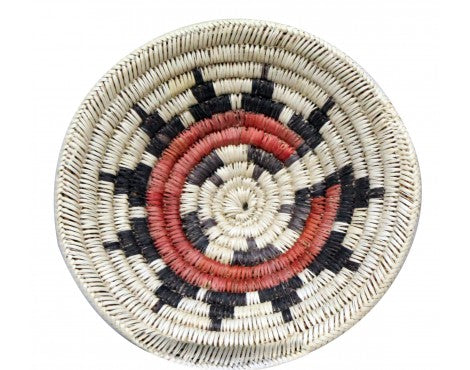 Navajo Handmade Ceremonial Basket, 9.25 in x 9.5 in