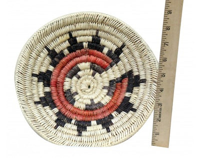 Load image into Gallery viewer, Navajo Handmade Ceremonial Basket, 9.25 in x 9.5 in