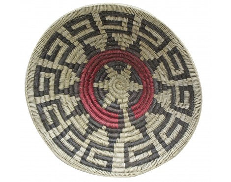 Kee Bitsinnie, Navajo Handmade Large Ceremonial Basket, 21.5 in x 21.5 in