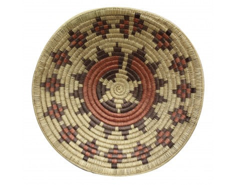 Navajo Handmade Ceremonial Basket, Large, 24.5 in x 24.5 in