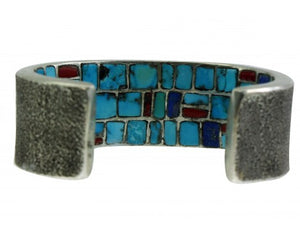 Philander Begay, Tufa Bracelet, Inlay, Inner Beauty, Kokopelli, Navajo, 6