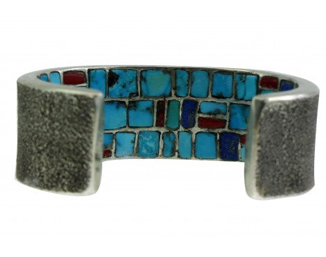 Philander Begay, Tufa Bracelet, Inlay, Inner Beauty, Kokopelli, Navajo, 6 1/4''