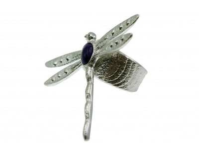 Load image into Gallery viewer, Darryl Dean Begay, Tufa Cast Ring, Purple Sugilite, Dragonfly, Navajo Handmade,8