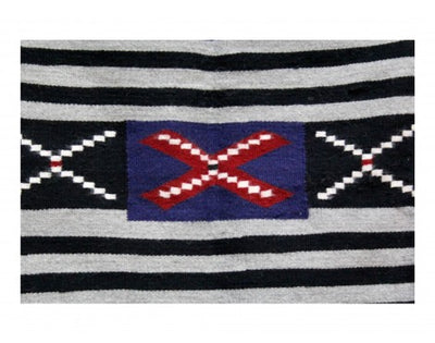 "Load image into Gallery viewer, Pauline Bitsui, Chief Blanket, Navajo Hand Woven, 49.5"" x 48"""