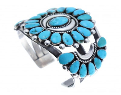 Load image into Gallery viewer, Antique Collection, Zuni Cluster Bracelet, Circa 1960s, Lone Mountain