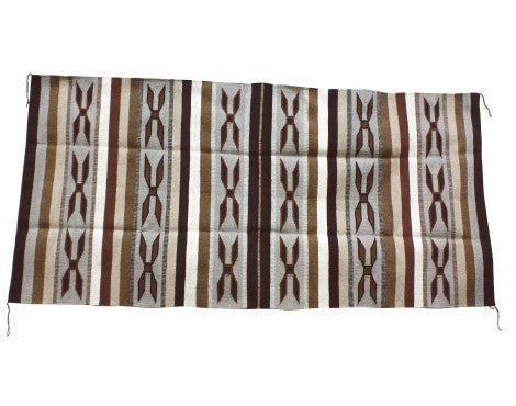 Lita Williams, Wide Ruins Rug, Navajo Handwoven, 81 in x 39 in
