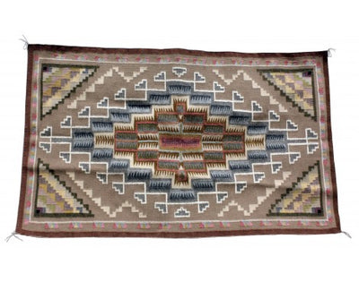 Load image into Gallery viewer, Sadie Charlie, Burntwater Rug, Navajo Handwoven, 42.5 in x 29