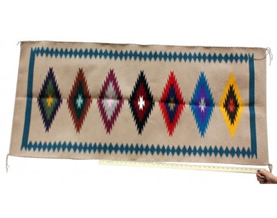 Load image into Gallery viewer, Millie Platero, Eye Dazzler Rug, Runner, Navajo Handwoven, 57.5 in 27 in