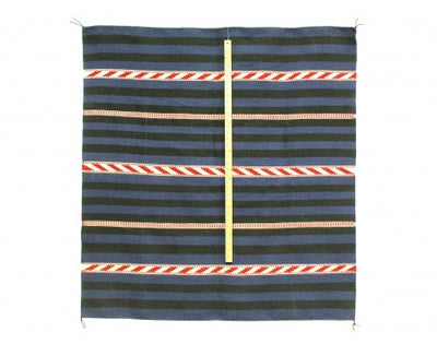 "Load image into Gallery viewer, Helen Greyeyes, Navajo Chief Blanket, Hand Woven, 46""x 48"""