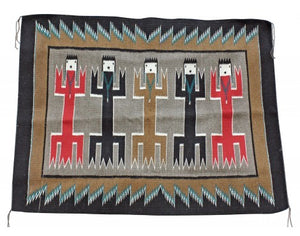 Anna Grey, Yei Bi Chi Rug, Holy People, Navajo Handwoven, 36 in x 48 in