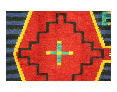 "Load image into Gallery viewer, Shirley Sandoval, German Town Revival Chief, Navajo Handwoven, 53"" x 55"""