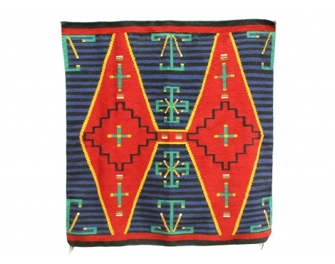 Shirley Sandoval, German Town Revival Chief, Navajo Handwoven, 53