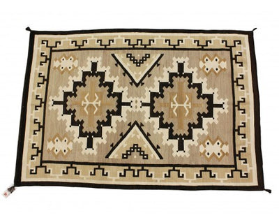 "Load image into Gallery viewer, Circa 1930s Navajo Rug, Two Grey Hills, Natural Colors, 57"" x 82"""