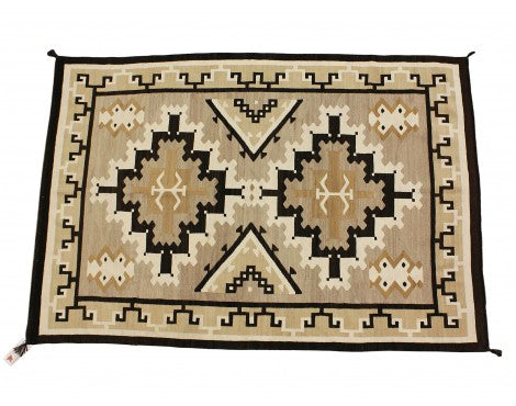 Circa 1930s Navajo Rug, Two Grey Hills, Natural Colors, 57